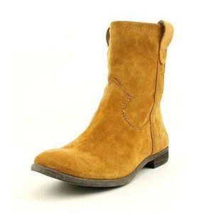 Vince Camuto Fanti Tan Leather Suede Slouchy Boots